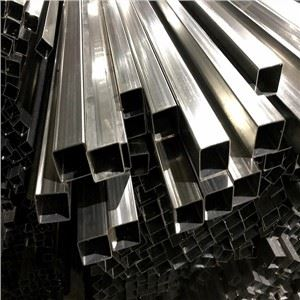 Stainless Steel Single Slot Square Tube